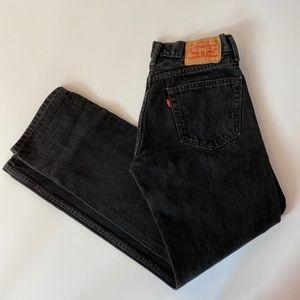 Black Levi 505 Jeans 30x32